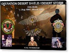 Operation Desert Shield/storm Acrylic Print