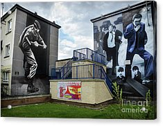 Operation Motorman Mural In Derry Acrylic Print by RicardMN Photography