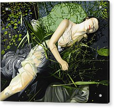 Ophelia Acrylic Print by Andrew Harrison