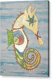 Ophelia The Seahorse Acrylic Print by Erika Swartzkopf