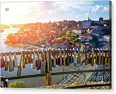 Oporto Is For Lovers Acrylic Print by Carlos Caetano