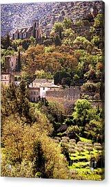 Oppede Le Vieux Landscape Acrylic Print by Olivier Le Queinec