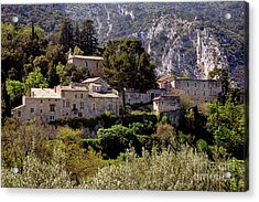 Acrylic Print featuring the photograph Oppede Le Vieux by Olivier Le Queinec
