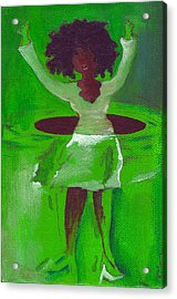 Oprah Hulas Acrylic Print