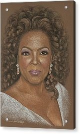 Oprah Acrylic Print by Kurt Holdorf