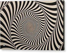 Optical Illusion Beige Swirl Acrylic Print
