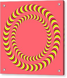 Optical Illusion Circle In Circle Acrylic Print