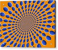 Optical Illusion Pods Acrylic Print by Michael Tompsett