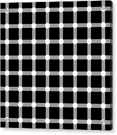 Optical Illusion The Grid Acrylic Print