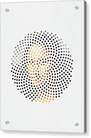 Acrylic Print featuring the digital art Optical Illusions - Famous Work Of Art 1 by Klara Acel