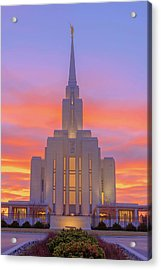 Oquirrh Mountain Temple IIi Acrylic Print by Chad Dutson
