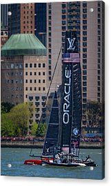 Oracle Team Usa America's Cup Nyc Acrylic Print