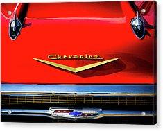 Orange '57 Chevy Acrylic Print by Douglas Pittman