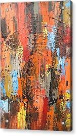 Orange Abstract Acrylic Print