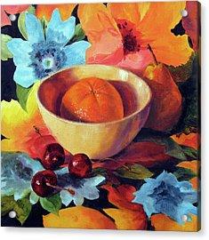 Orange And Cherries Acrylic Print by Marina Petro
