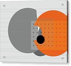 Orange And Gray Abstract Art Acrylic Print