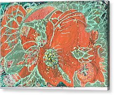 Orange And Green And A Tangerine Acrylic Print by Anne-Elizabeth Whiteway