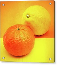 Orange And Lemon Acrylic Print