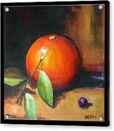 Orange And Purple Acrylic Print by Pepe Romero