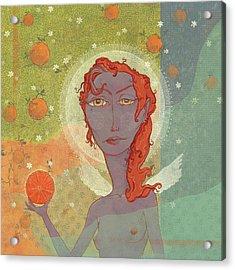 Orange Angel 4 Acrylic Print