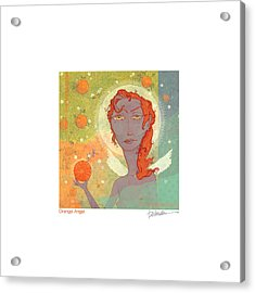 Orange Angel Poster Acrylic Print