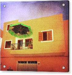 Acrylic Print featuring the photograph Orange Apartment, Alcala by Anne Kotan