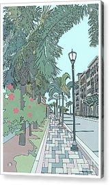 Acrylic Print featuring the digital art Orange Avenue by Megan Dirsa-DuBois