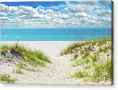 Orange Beach Al Seascape 1086a Acrylic Print