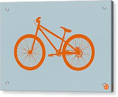 Orange Bicycle  Acrylic Print by Naxart Studio
