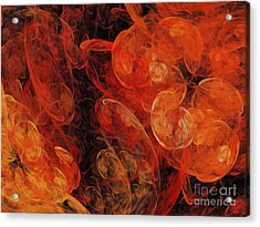 Acrylic Print featuring the digital art Orange Blossom Abstract by Andee Design