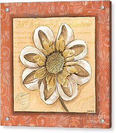 Orange Bohemian Dahlia 2 Acrylic Print by Debbie DeWitt