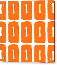 Orange Boxes- Art By Linda Woods Acrylic Print