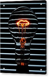 Orange Bulb Acrylic Print by Rob Hawkins
