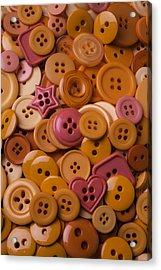 Orange Buttons Acrylic Print