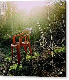 Orange Chair Acrylic Print by Bernard Jaubert