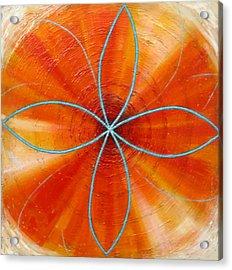 Orange Chakra Acrylic Print by Anne Cameron Cutri