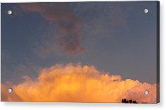 Orange Cloud With Grey Puffs Acrylic Print