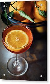 Orange Cocktail Acrylic Print by Happy Home Artistry