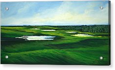 Orange County Fairway Acrylic Print by Michele Hollister - for Nancy Asbell