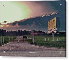 Orange County Speedway Acrylic Print by David A Brown