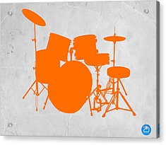 Orange Drum Set Acrylic Print by Naxart Studio