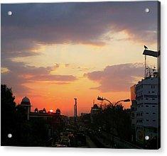 Orange Evening Sky Acrylic Print