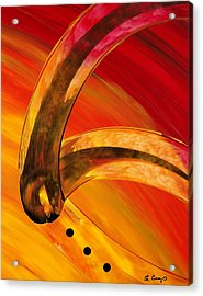 Orange Expressions Acrylic Print by Sharon Cummings