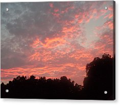 Orange Florida Sunset Acrylic Print by Warren Thompson