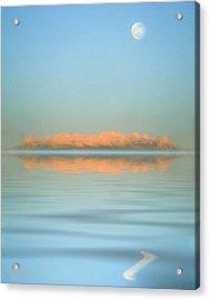 Orange Fog Acrylic Print by Jerry McElroy