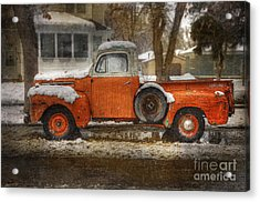 Orange Ford 150 Acrylic Print