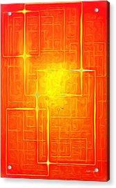 Orange Geometry - Da Acrylic Print by Leonardo Digenio
