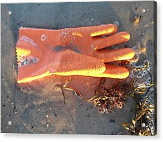 Orange Glove Acrylic Print