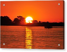 Orange Glow Acrylic Print by Joe  Burns