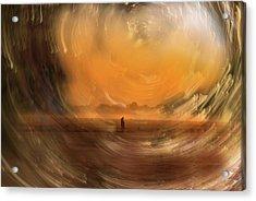 Orange Gust Acrylic Print